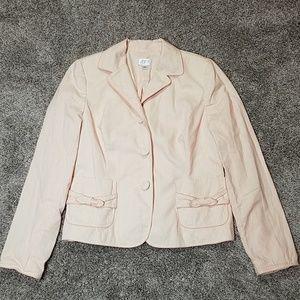 Loft Peach & Cream Work Career Suit Jacket